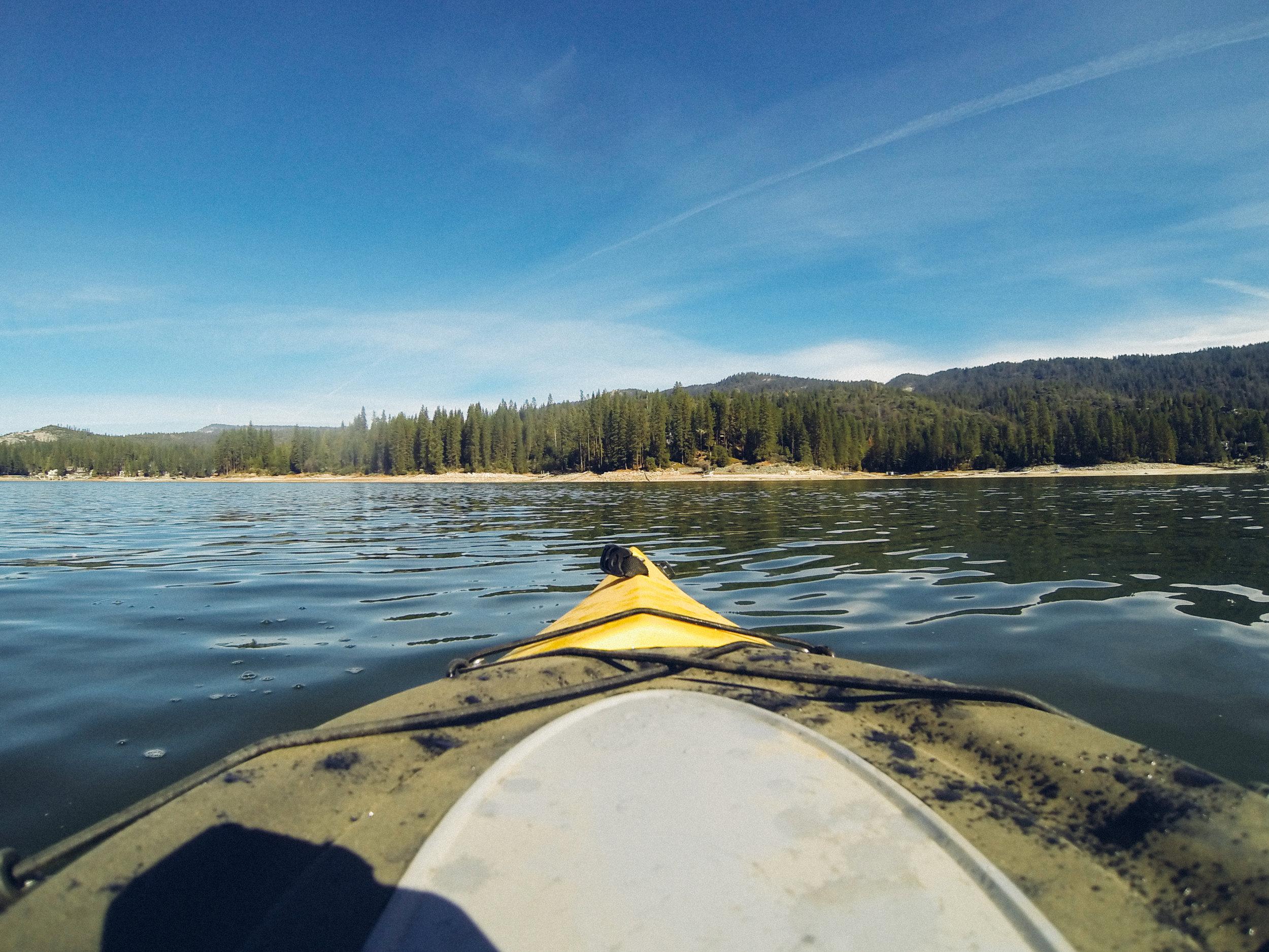 Kayaking at Bass Lake