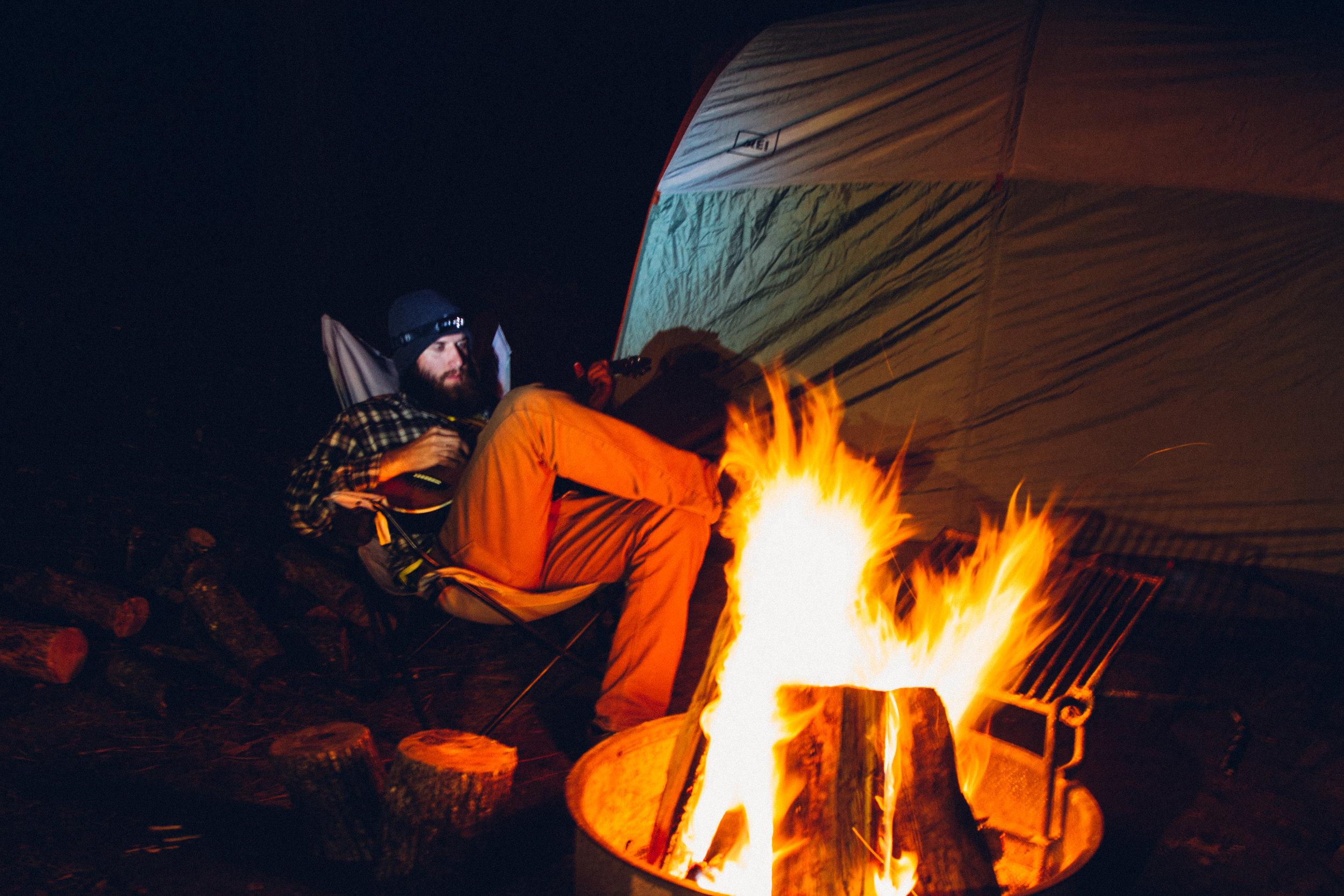 Camping at Bass Lake