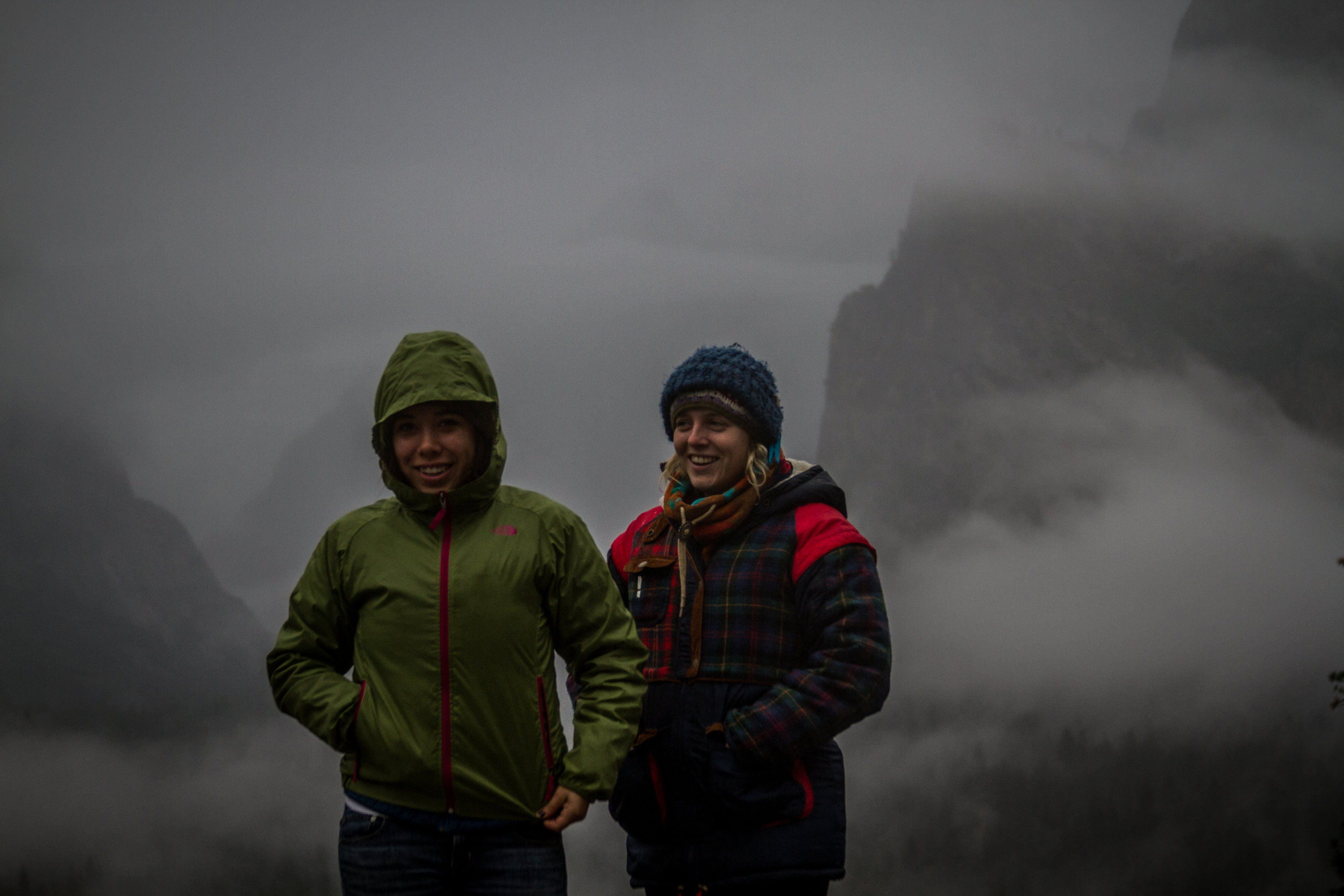 Yosemite Valley - Tunnel View on a Foggy Day