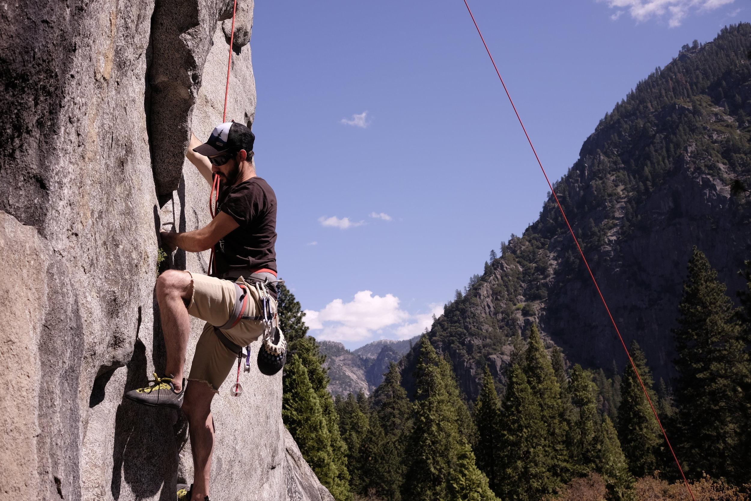 Rock Climbing in Yosemite Valley at Swan Slab