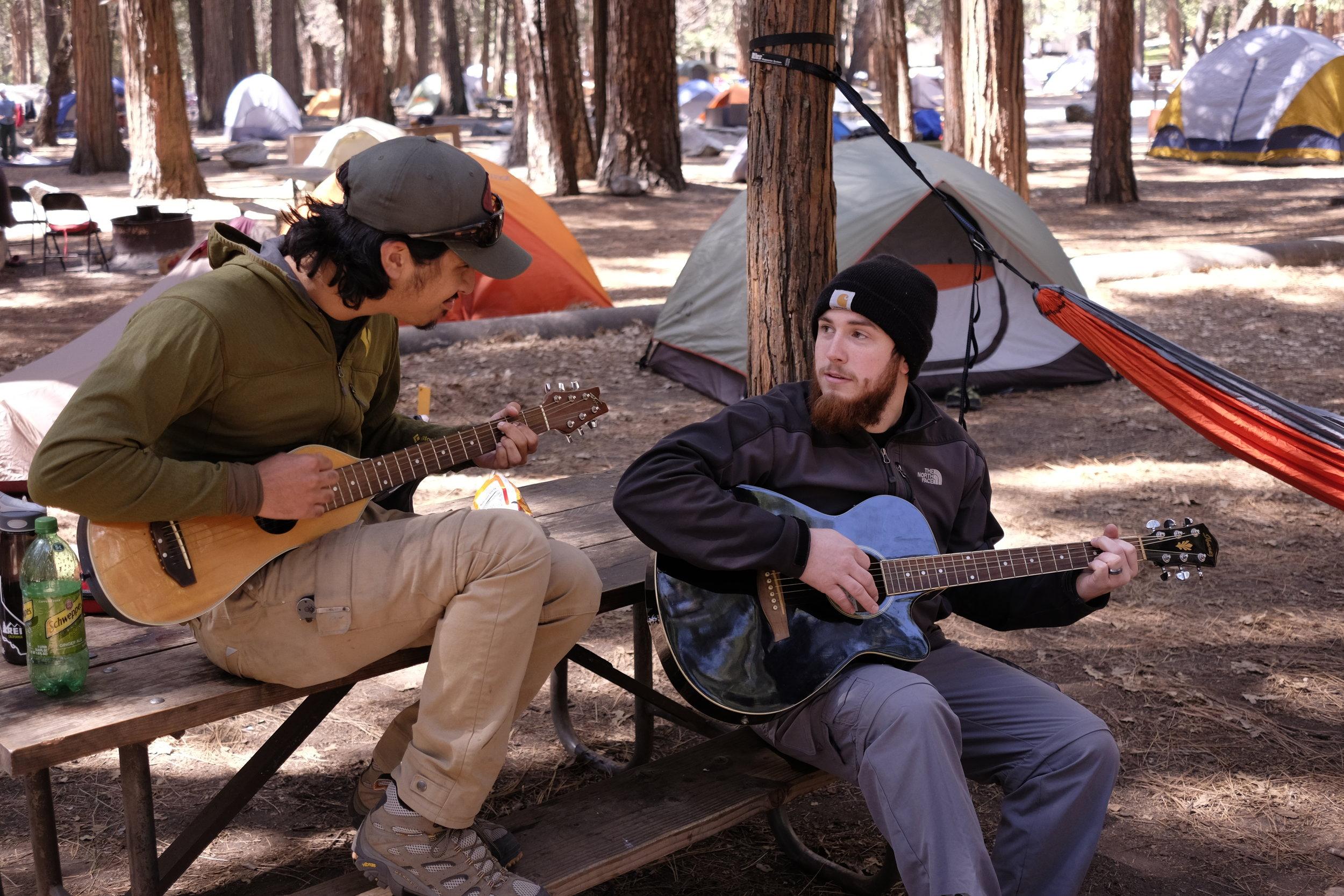Camping at Camp 4 in Yosemite Valley