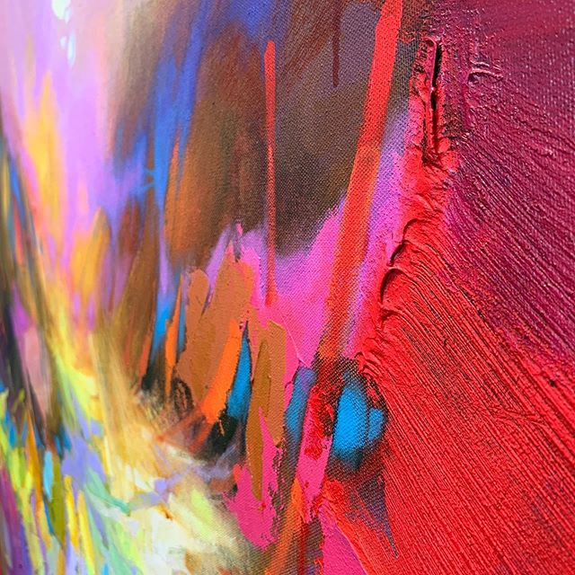Texture like you read about.  #texture #nofilter #red #pink #purple #layers #cake #blusmith #blusmithgallery #blu #humpday #wednesday #studio #working