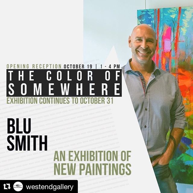 Excited for my next exhibition at Edmonton's West End Gallery!  Make sure to stop in and see my newest collection.  @westendgallery #westendgalleryedmonton #blusmithgallery #blusmith #newwork #soloexhibition #thecolourofsomewhere #edmontonart #abstractart
