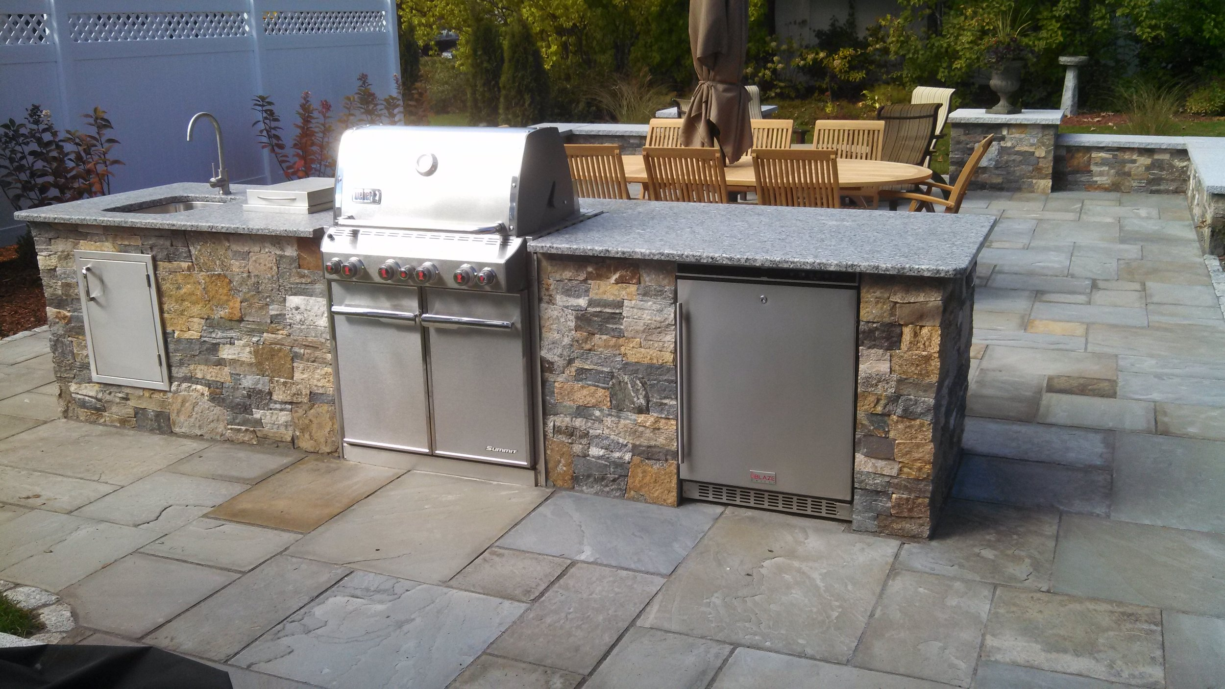 Best outdoor kitchen landscape design in Westford, MA