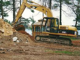 Septic system installation by top excavating contractors in Amherst, NH