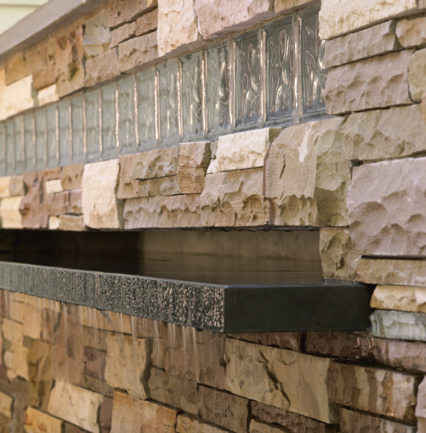 Landscape design and stone veneer installation in Amherst, NH