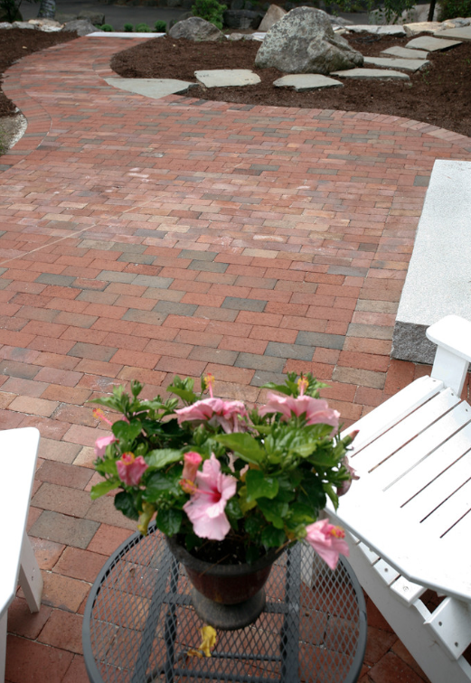 Paver patio by landscaper in Concord, NH