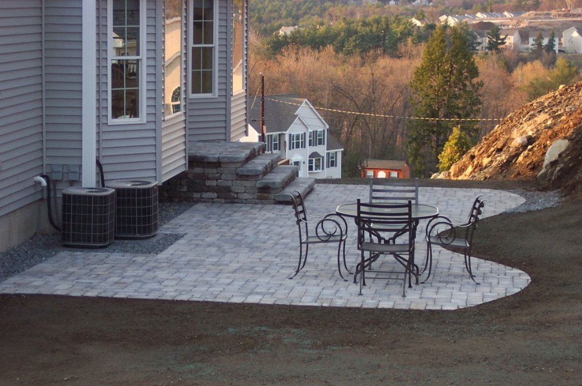Stunning paver patio by certified landscaper in Laconia, NH