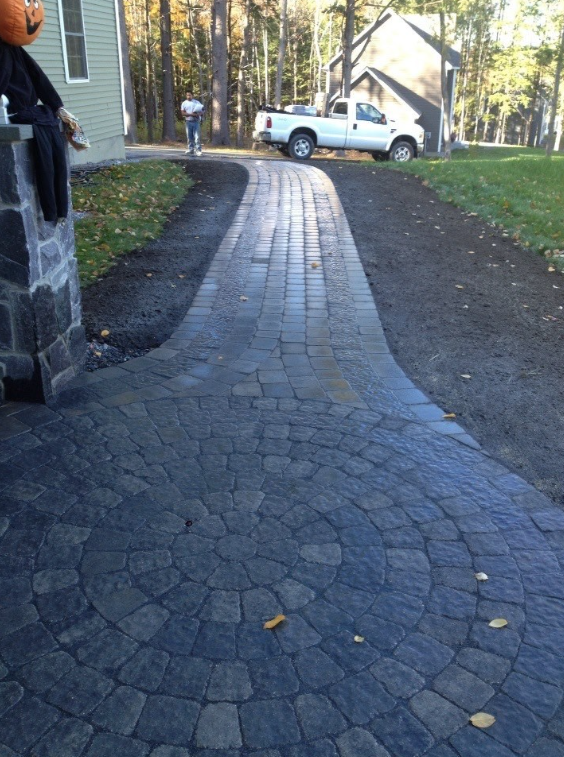 Stunning paver walkways by Concord, NH top landscaper