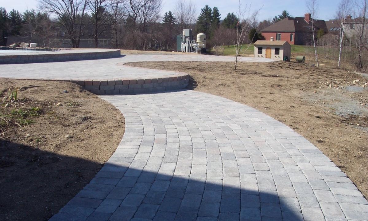 Paver patio landscape design and installation in Laconia, NH