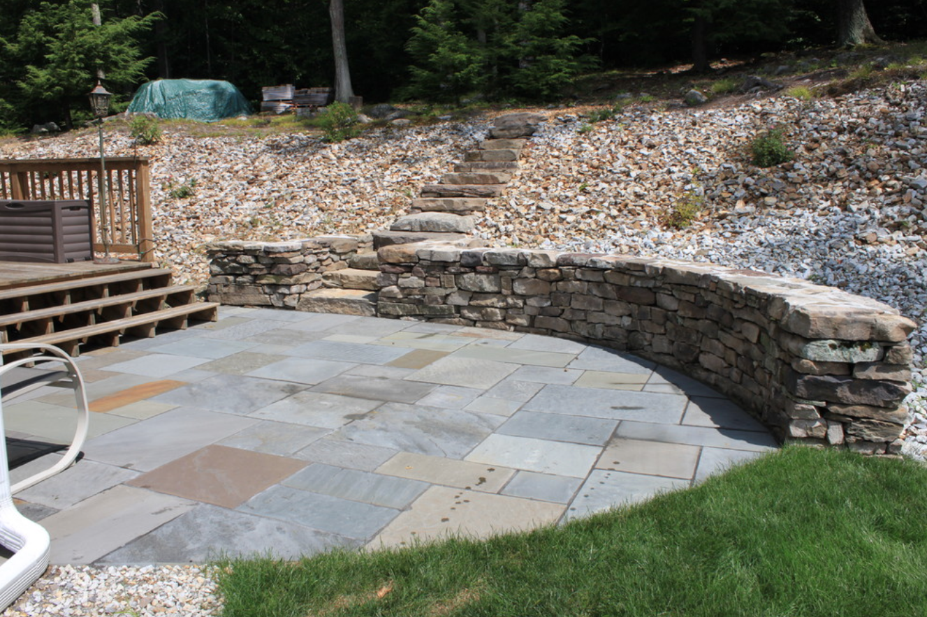 Newton, MA top masonry for retaining walls