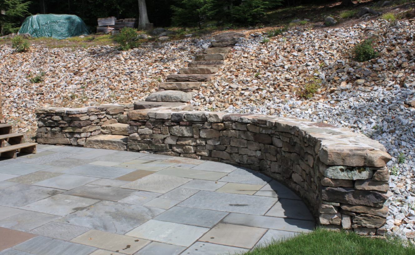 Lexington, MA top masonry for retaining walls