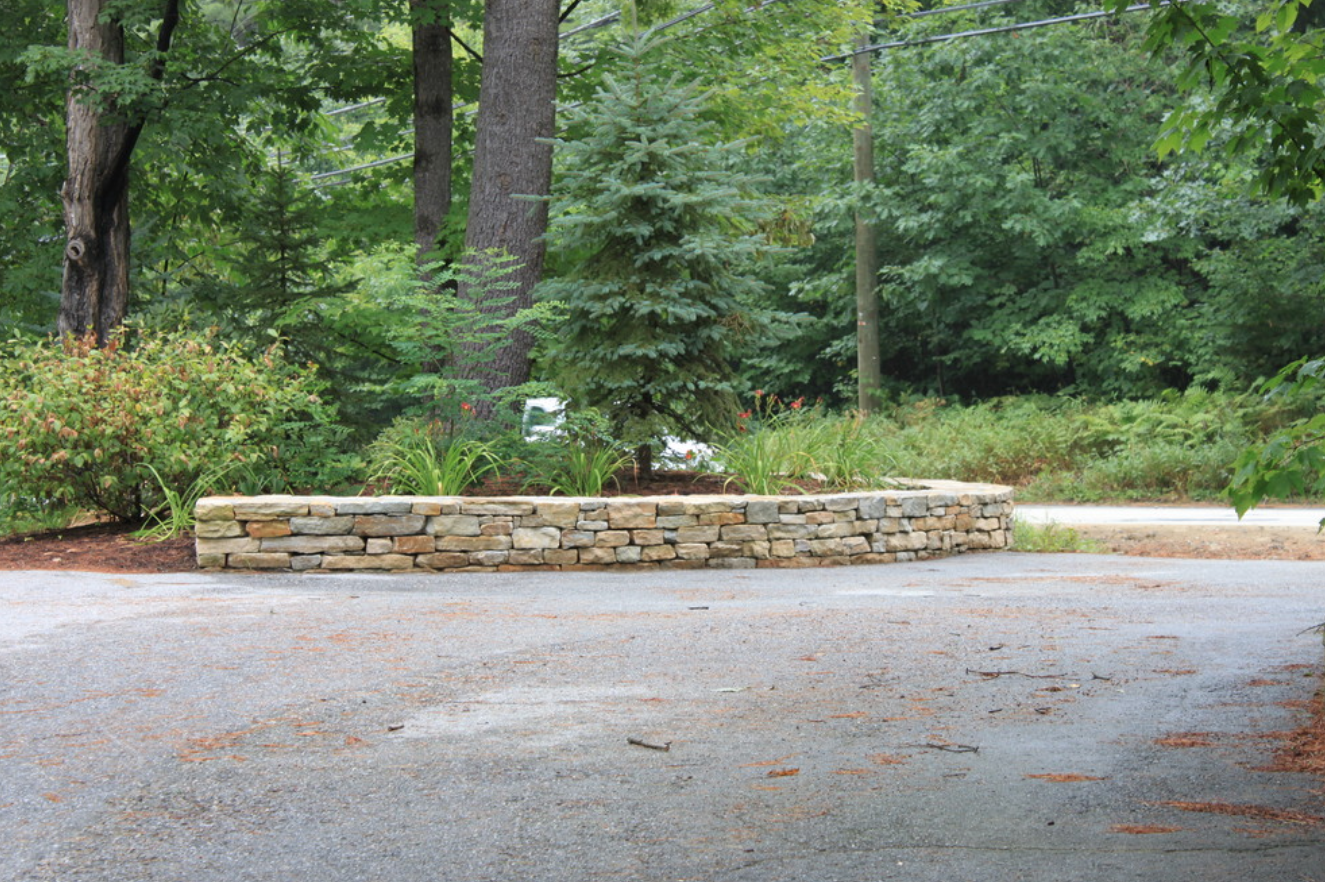 Landscape design with masonry in Concord, NH