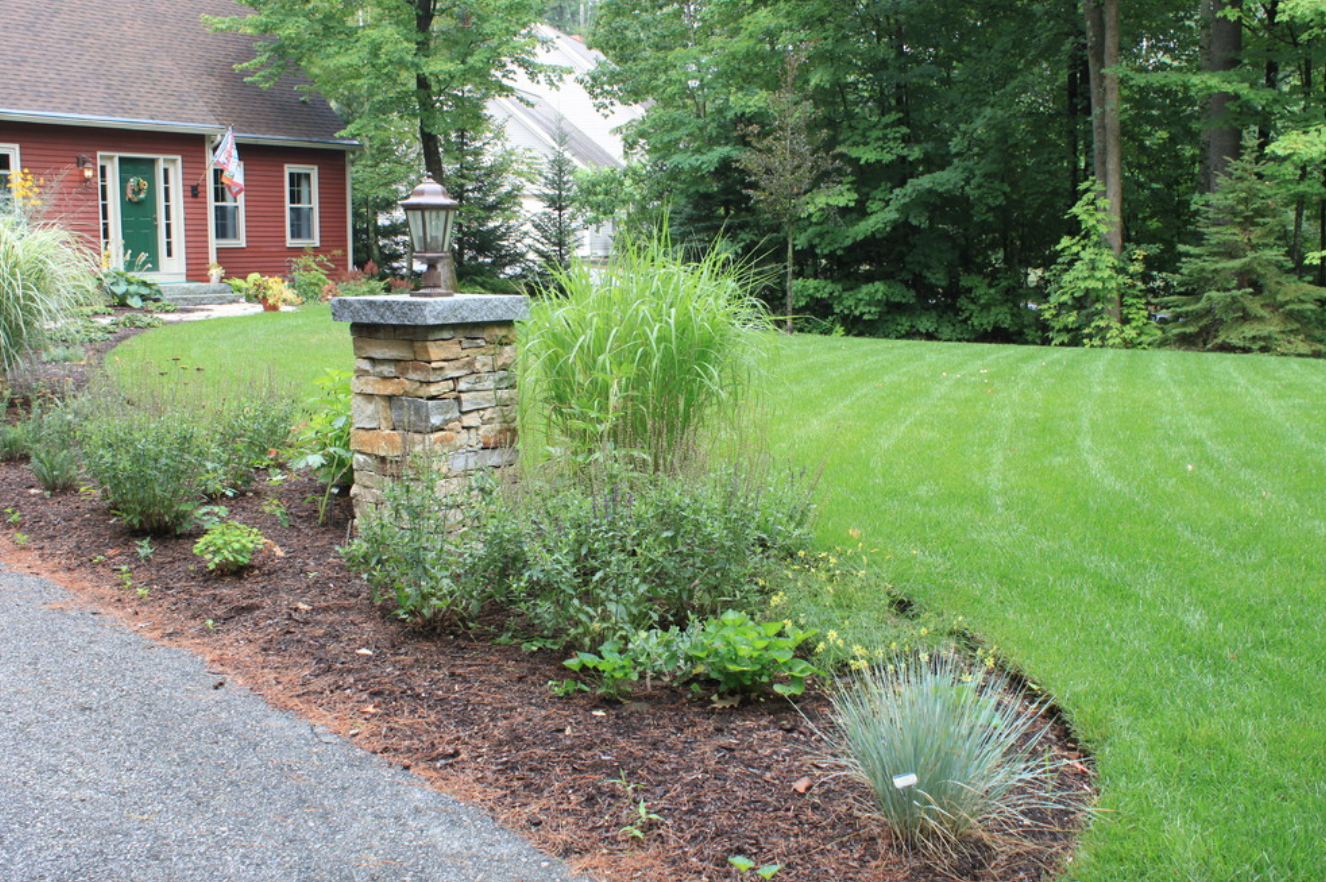 Landscape design with outdoor lighting in Concord, NH