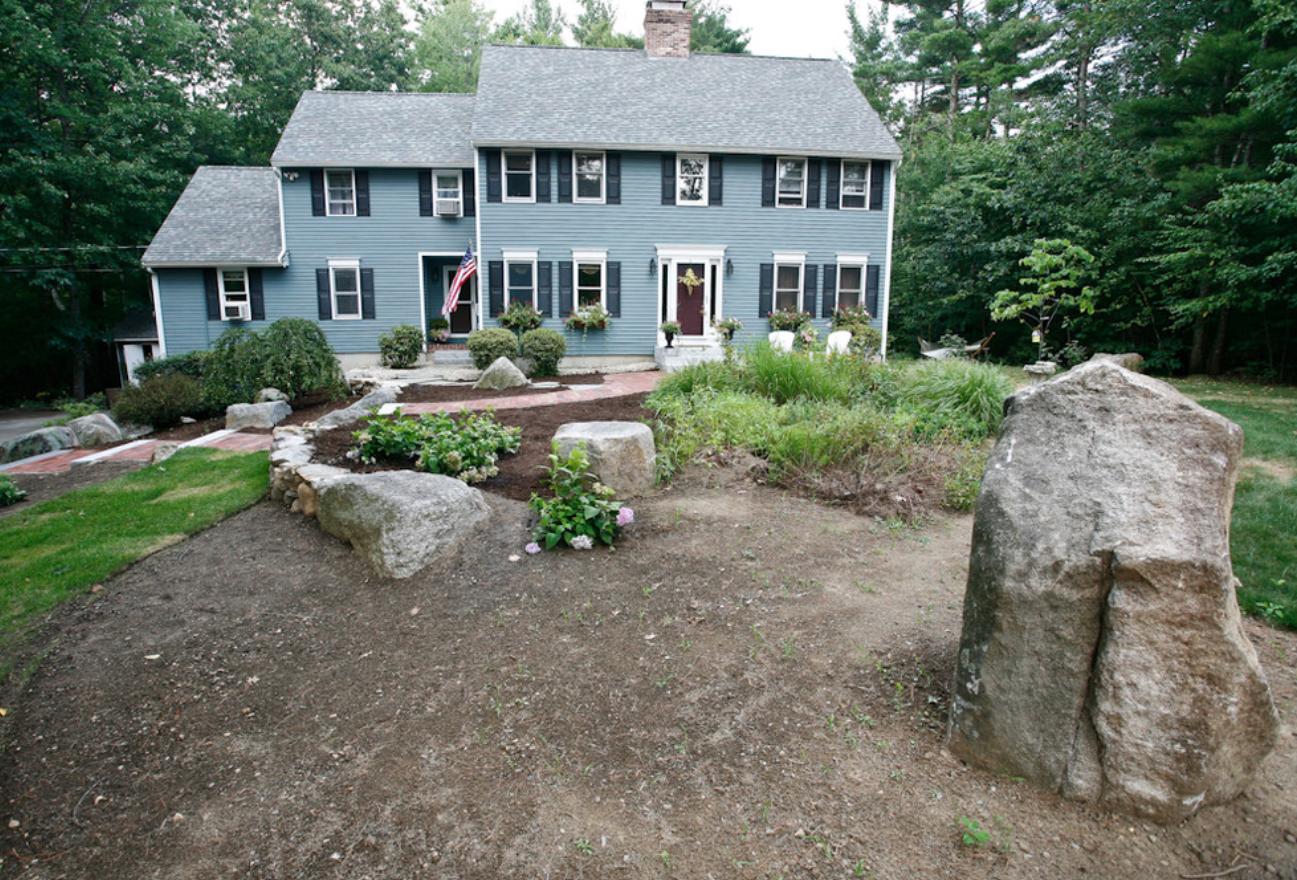 Landsape design in Milford, NH