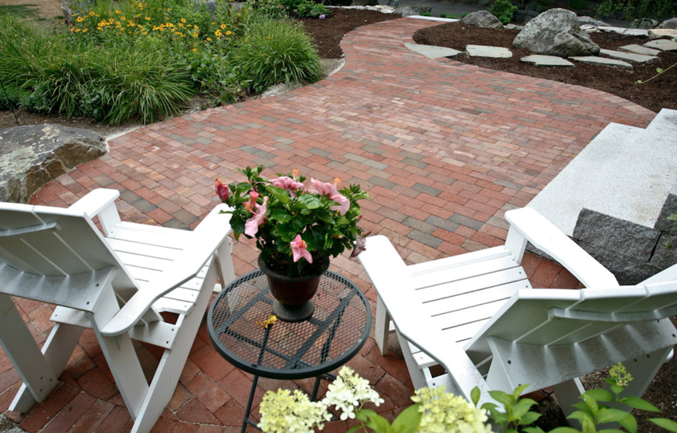 Beautiful paver patio in Milford, NH