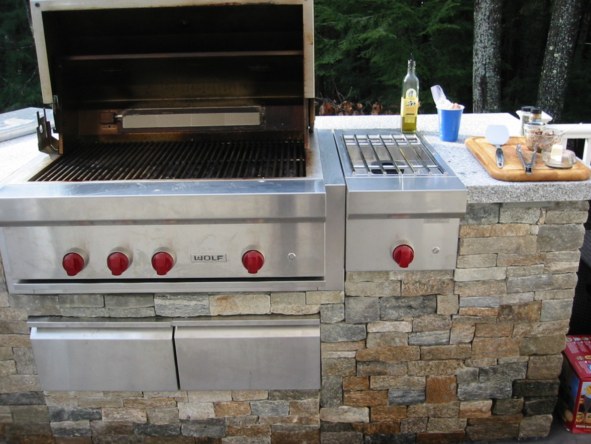 Landscaping services, including outdoor kitchen and masonry in Milford, NH
