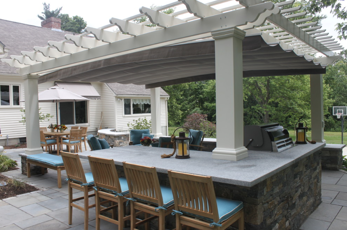 Outdoor masonry fireplaces in Hollis, NH