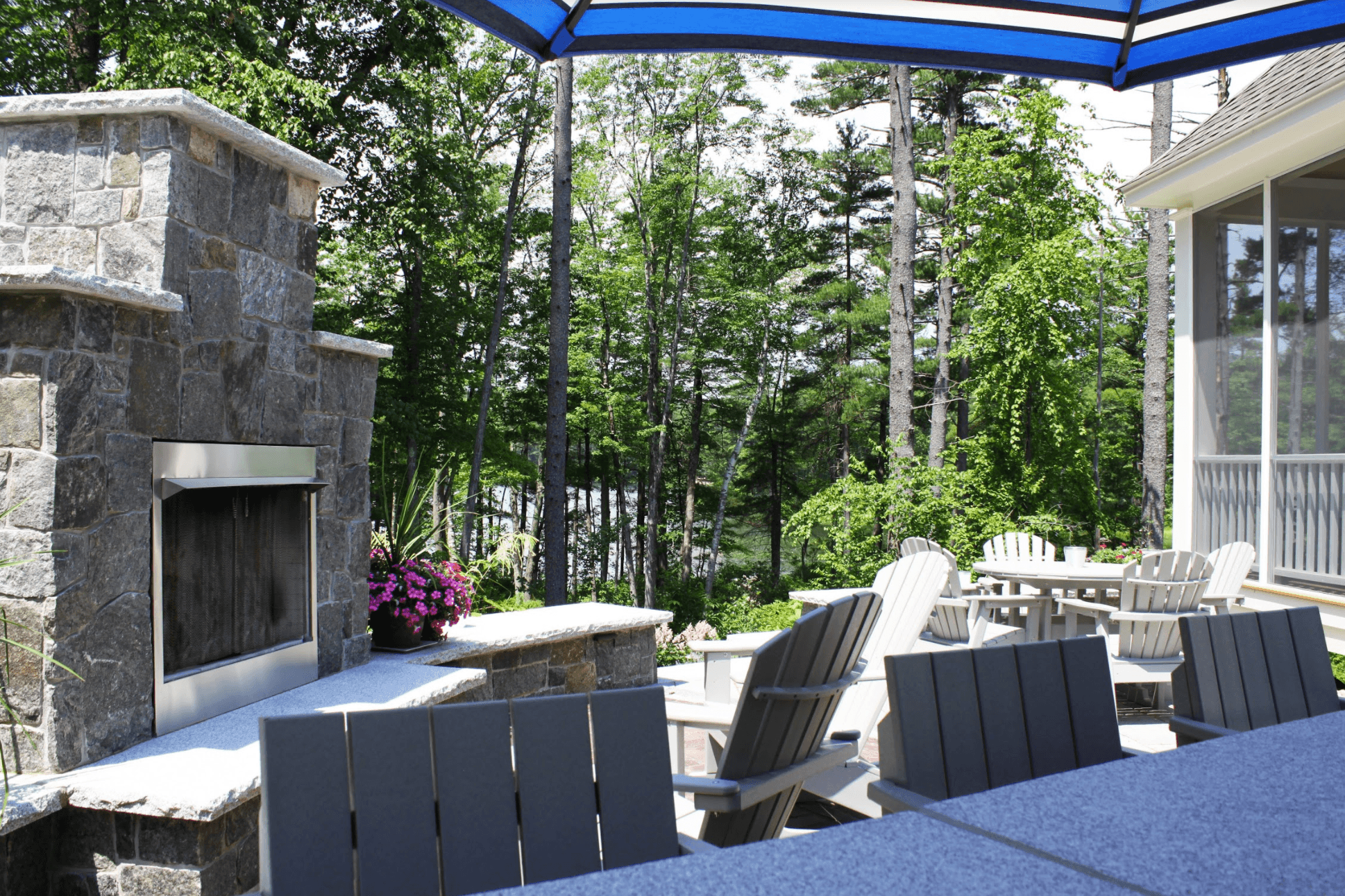 Landscaper in Milford, NH with top outdoor fireplace ideas