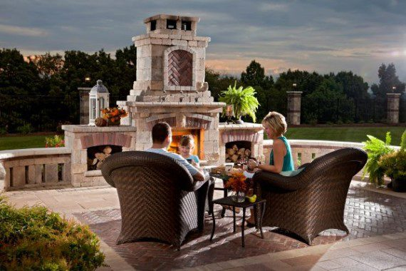 Gorgeous Custom Outdoor Fireplace Designs for your Newton MA Home