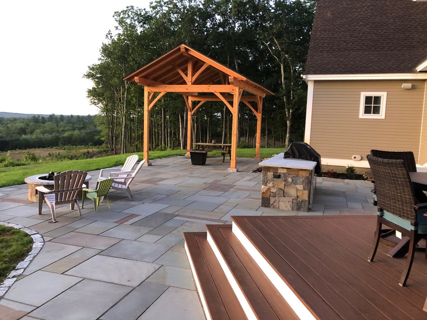 Top paver patio in Bedford NH