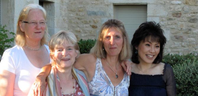 Photograph L-R: Anne Brain, Liz Warde, Fiona Ballantine-Dykes and Noriko Ogawa