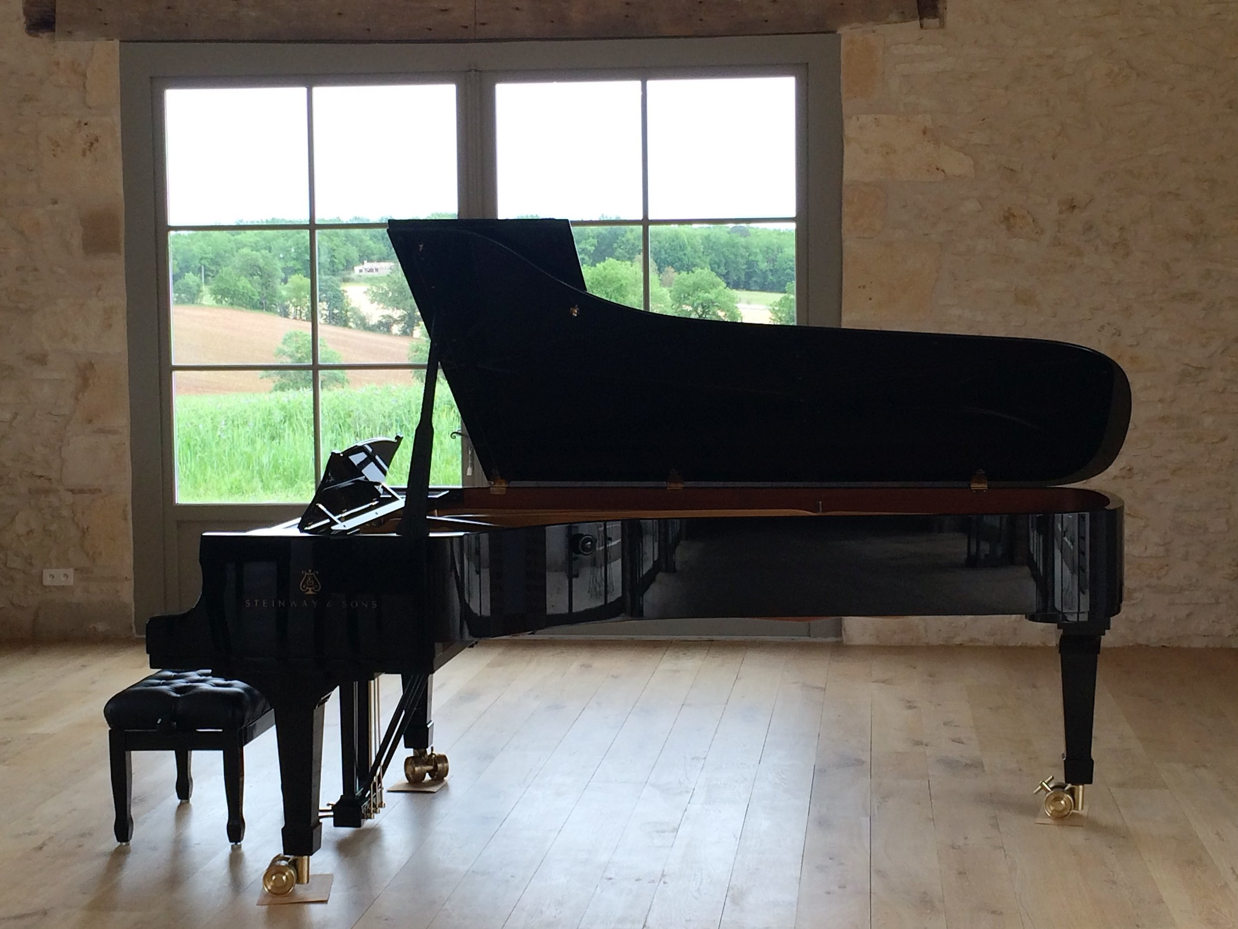 The studio at La Balie, where the master classes, lessons and recitals take place