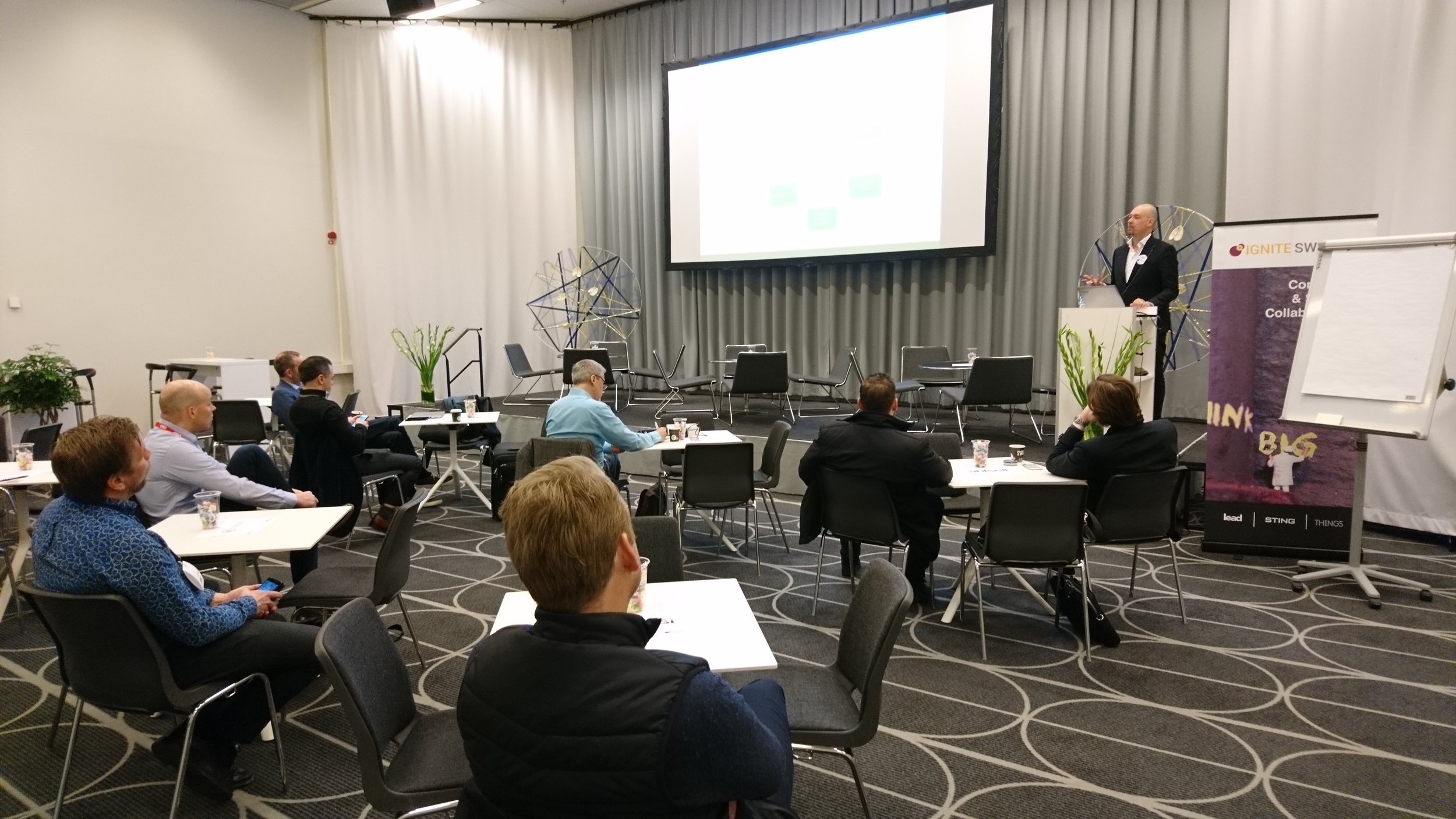 Christian Malmsten  held a Sales Boost course for startups at our matchmaking event in early May
