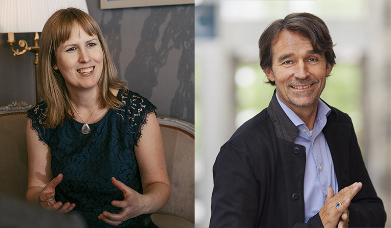 Jennie Ekbeck, CEO of Umeå Biotech Incubator, and Raoul Stubbe, business coach at Sting.
