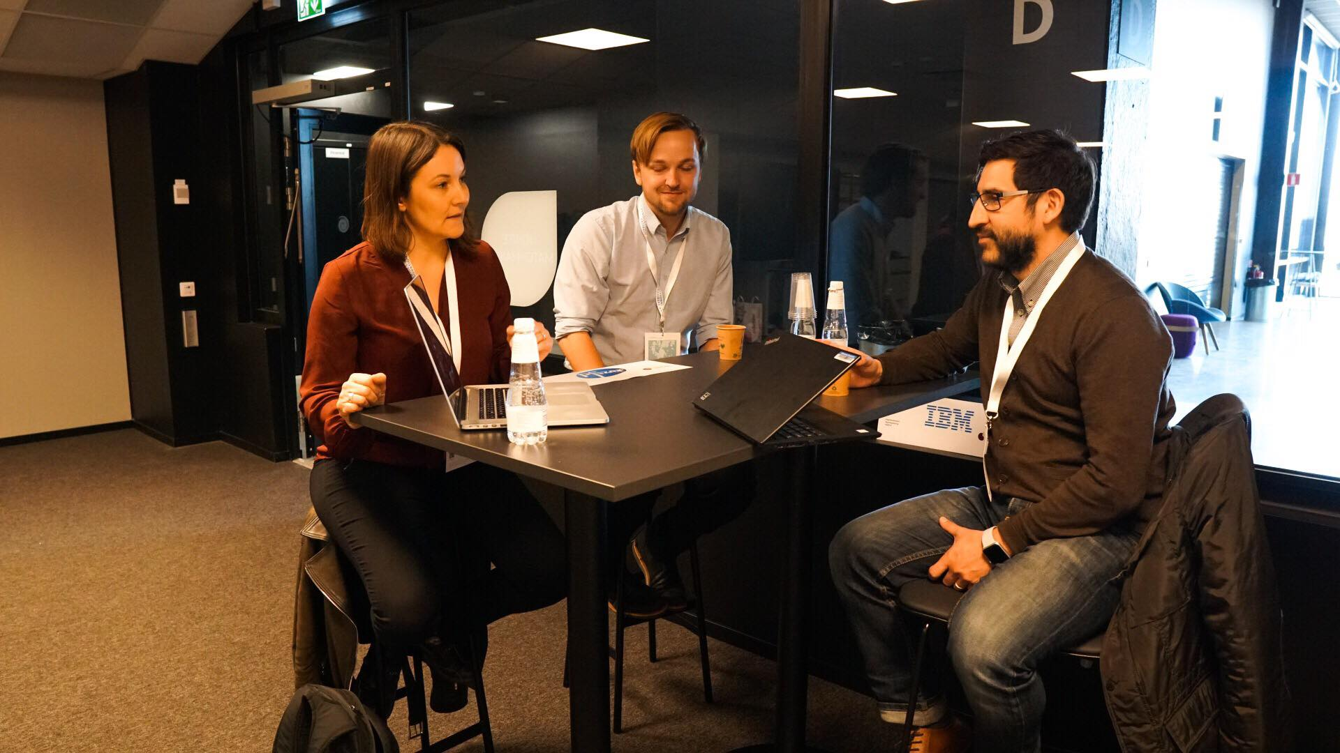 Jaana Nykänen from the gaming startup Divine Robot met 7 companies at the event