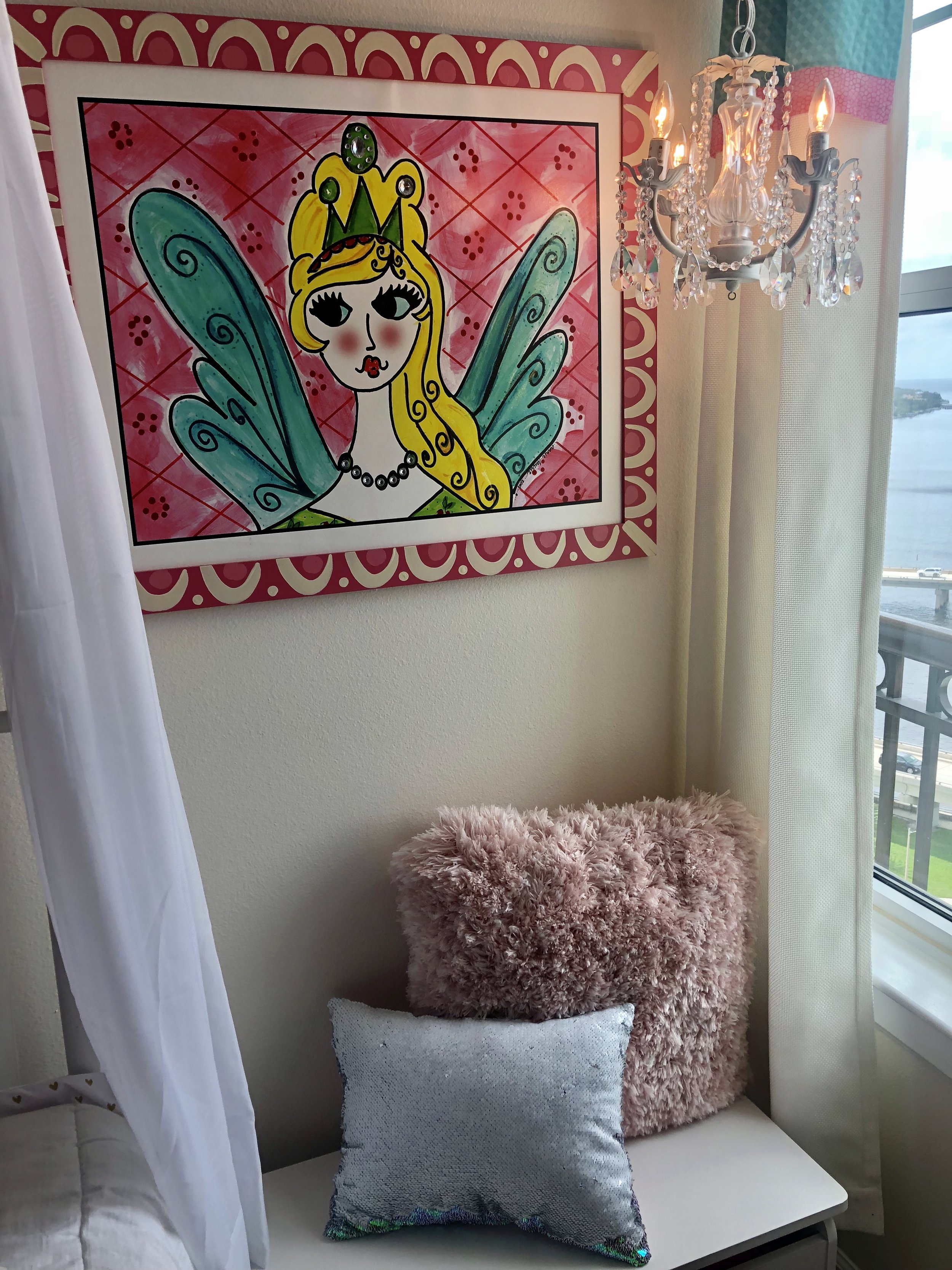 Mila's reading nook - Pillows from HomeGoods