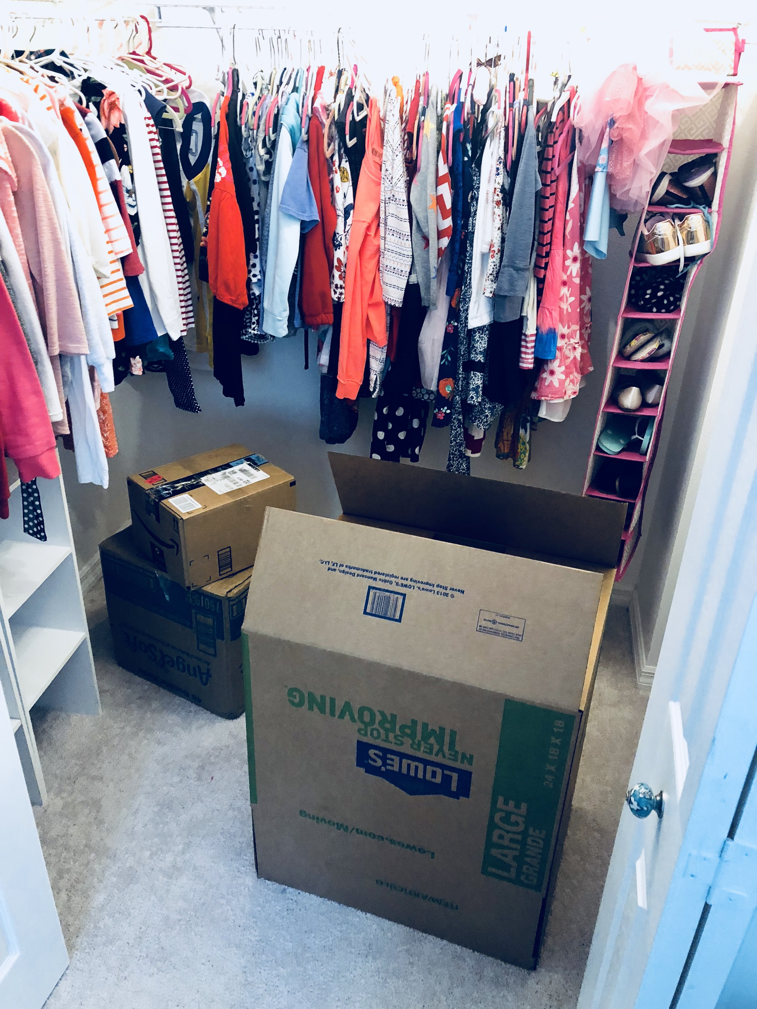 First closet to pack :(