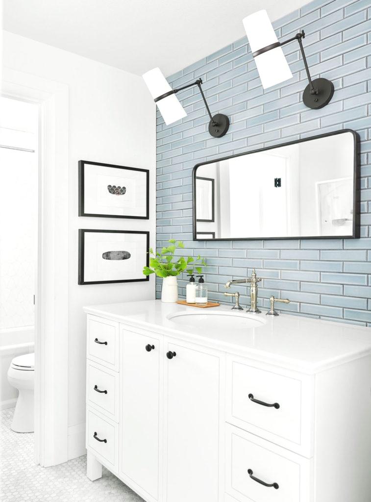 Emily Henderson Portland Project Guest Bath - Pratt & Larson