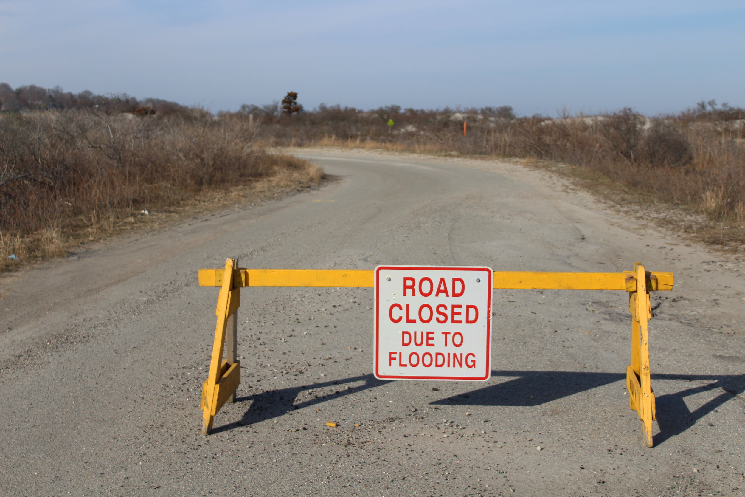 Prior to recent improvements, Third Beach Road in Middletown frequently closed due to flooding.