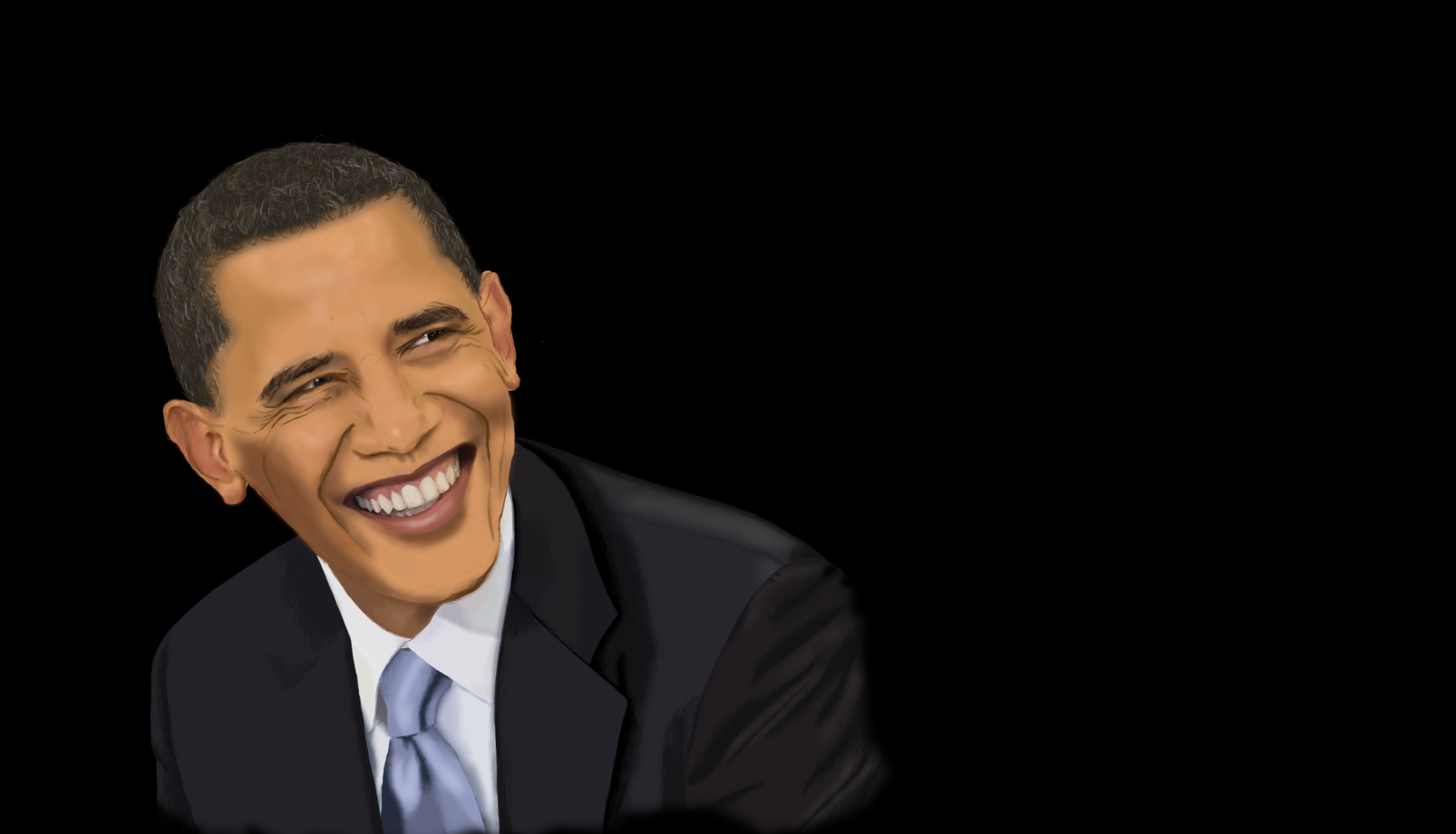 Obama Portrait (tablet + photoshop)