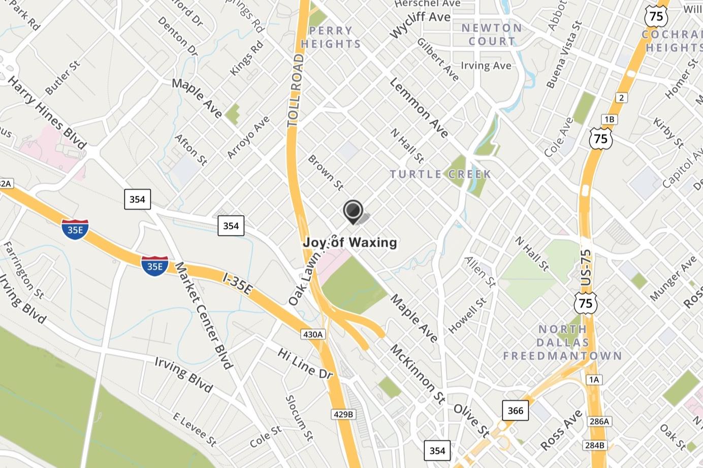 Joy of Waxing - 3622 Fairmount StDallas, TX 75219(972) 968-8772