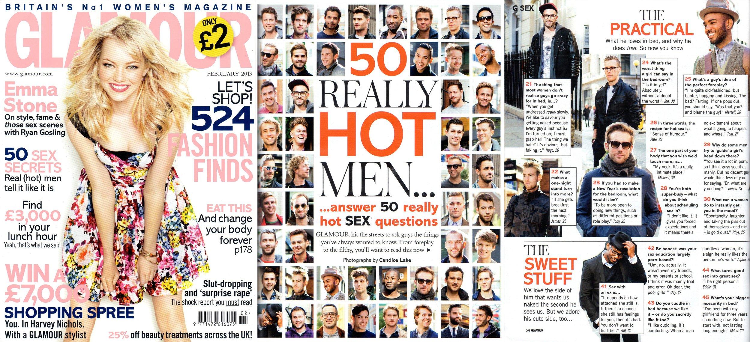 Glamour Magazine: 50 Really Hot Men Article