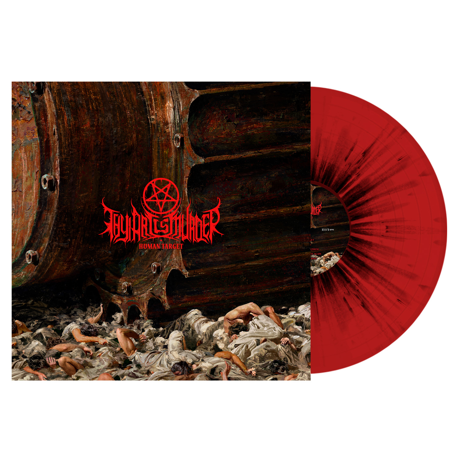 Thy Art Is Murder - Human Target - Red w/ Black Splatter Vinyl