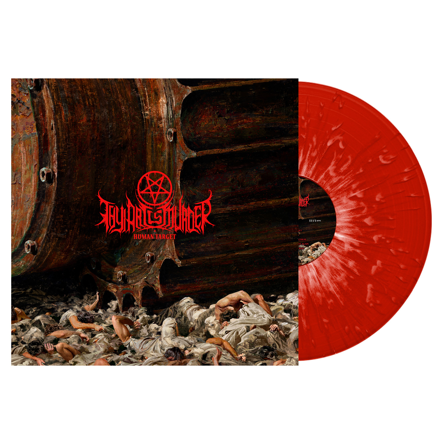 Thy Art Is Murder - Human Target - Red w/ White Splatter Vinyl