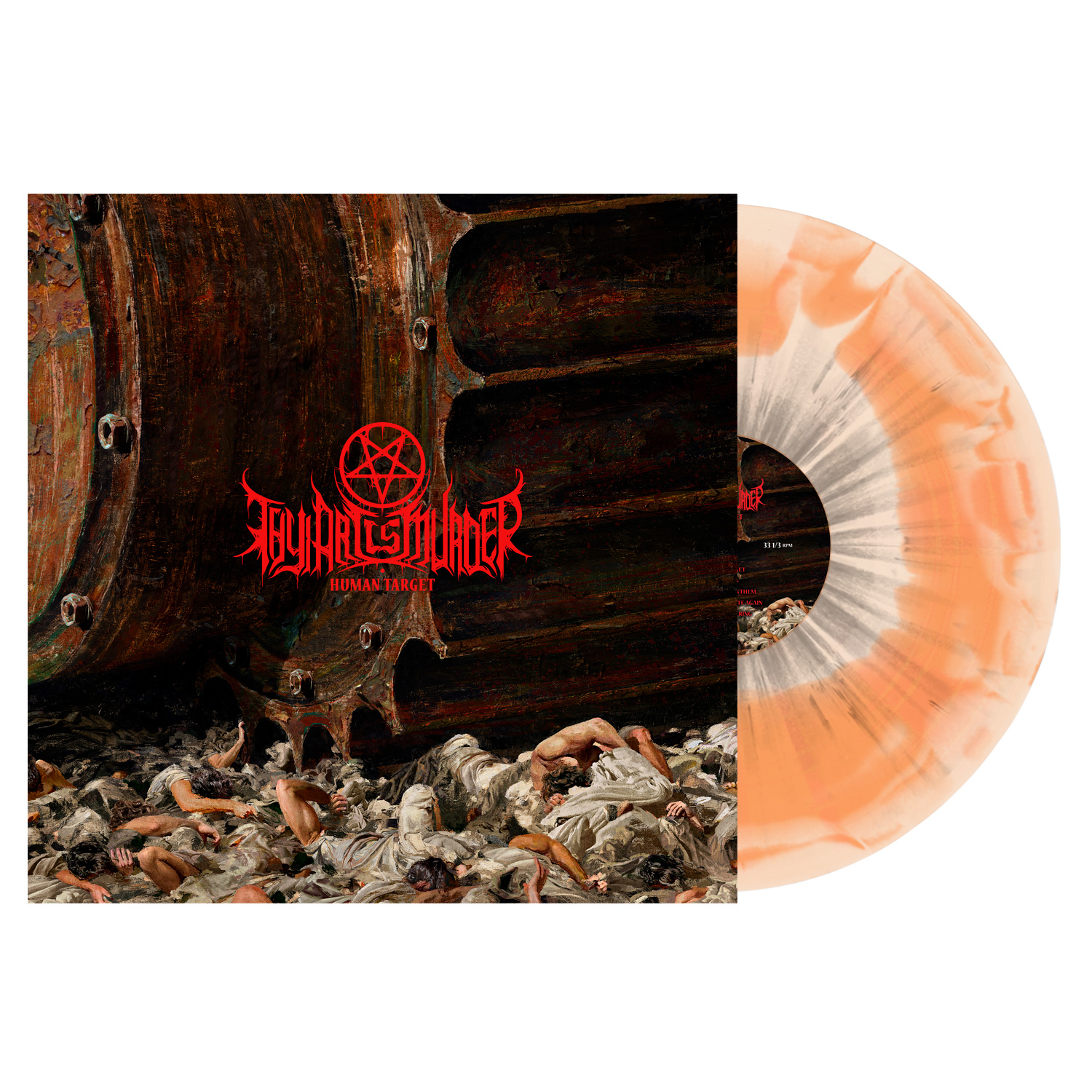 Thy Art Is Murder - Human Target - Orange/Bone Swirl w/Grey Splatter Vinyl