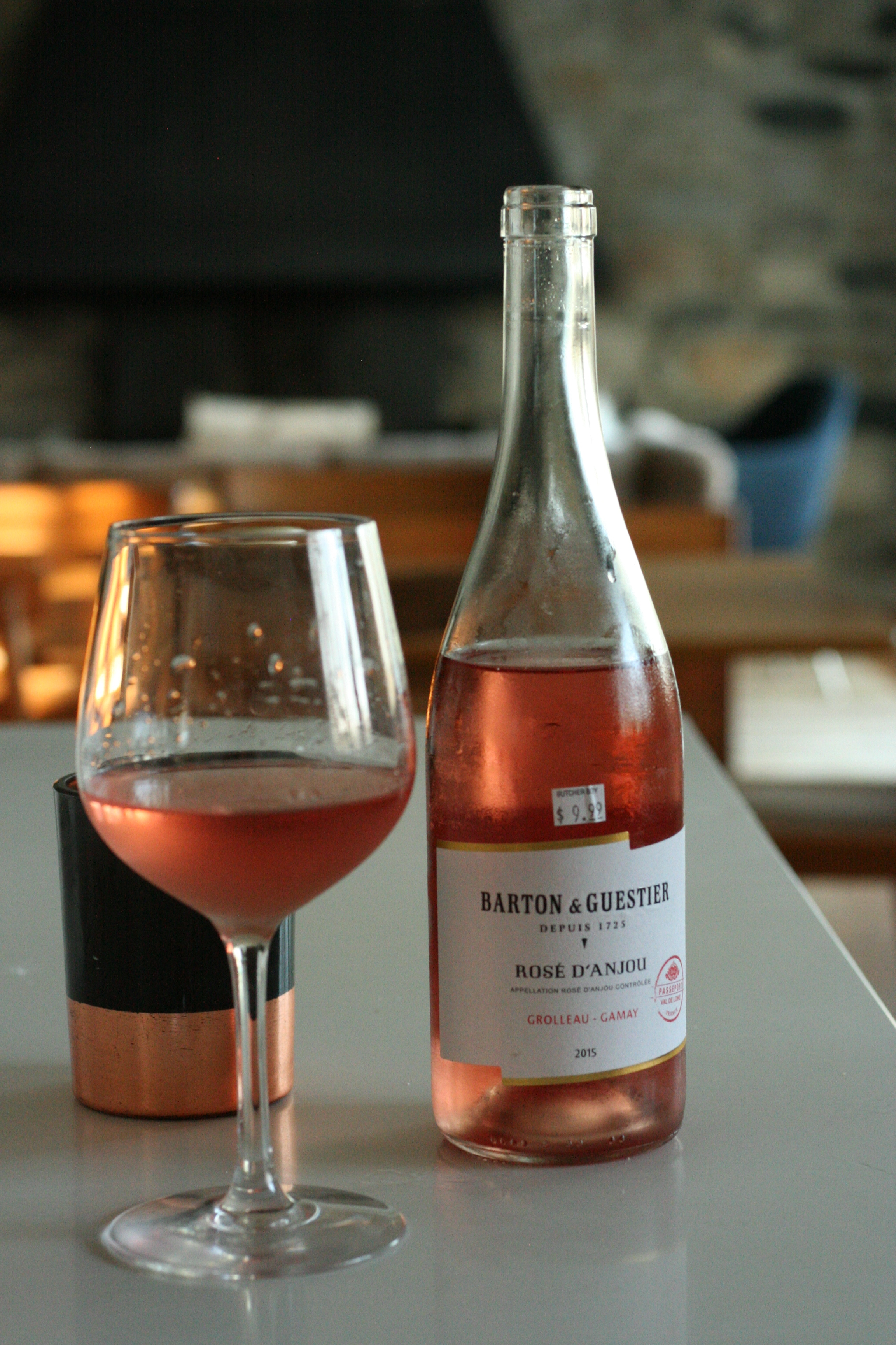 I recommend having a glass of rosé because it's Spring!