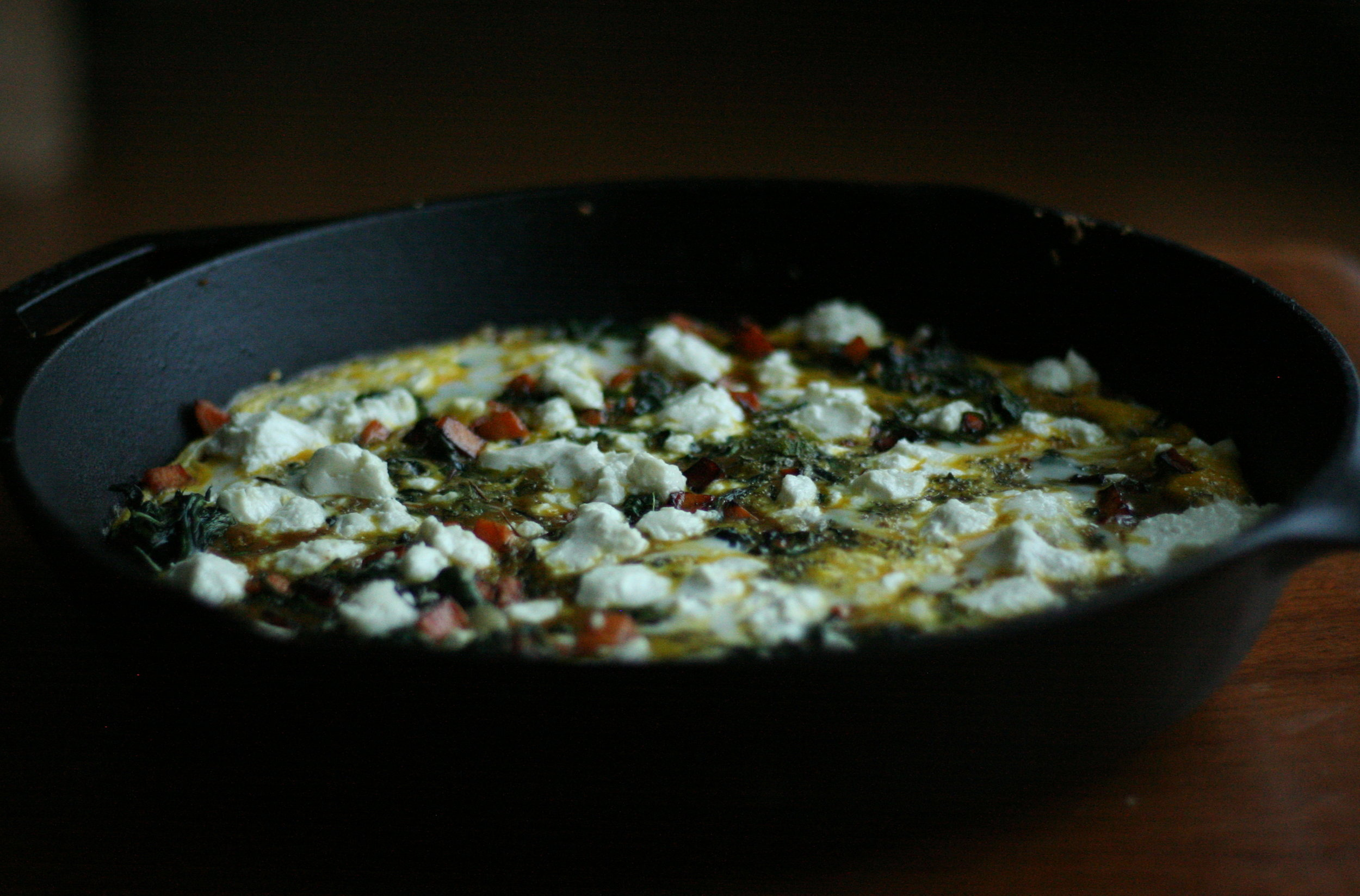 dandelion frittata