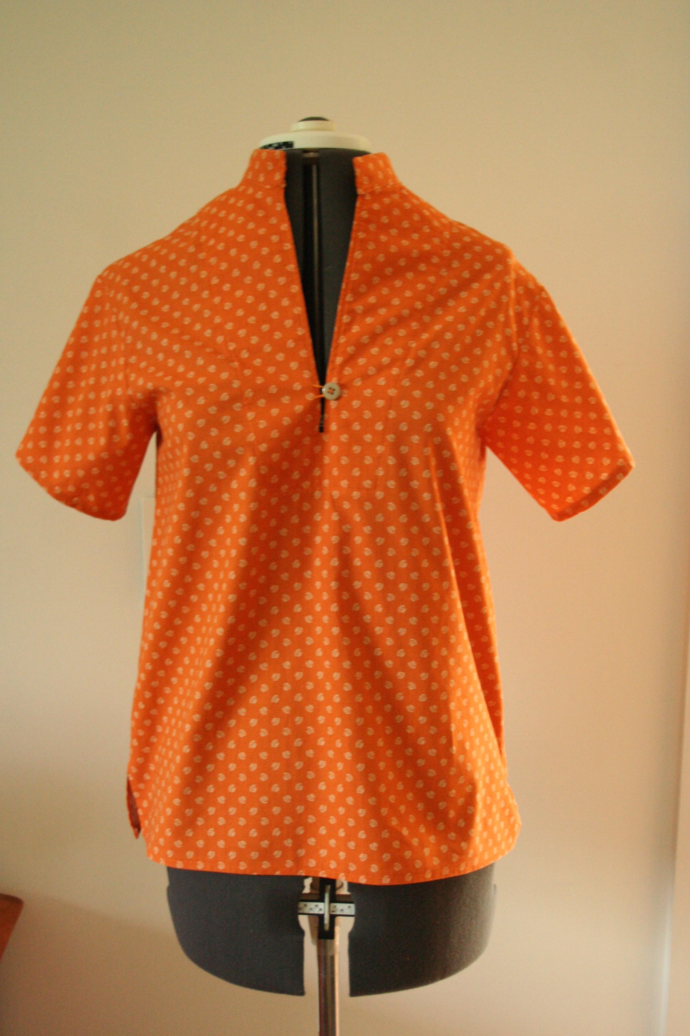 heidi pullover front on dressform