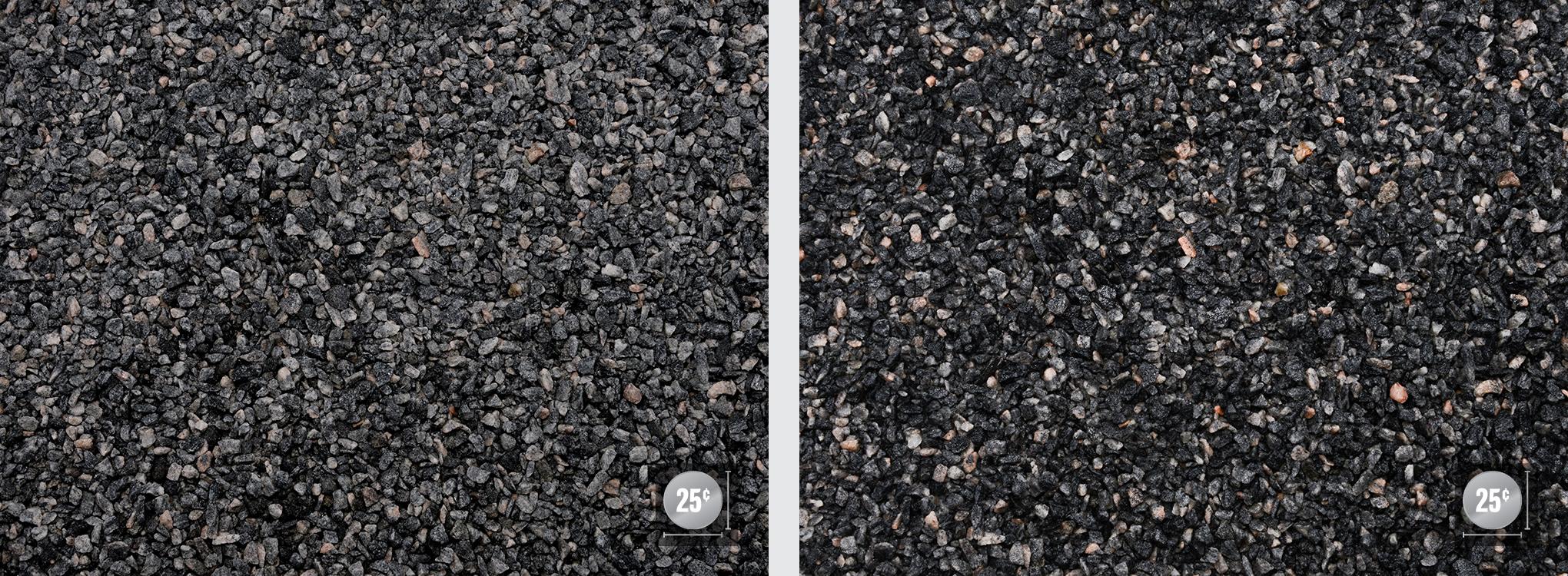"""1/4"""" (Left: Dry, Right: Wet)"""