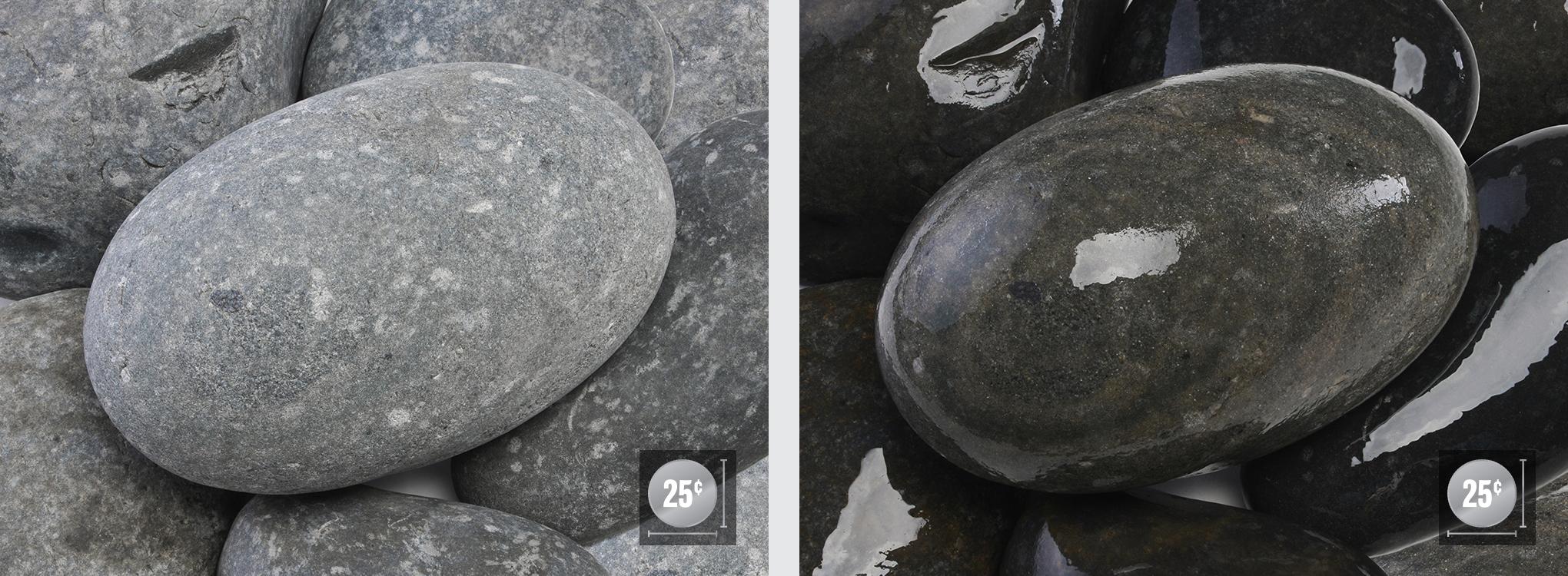"""5"""" - 10"""" (Left: Dry, Right: Wet)"""