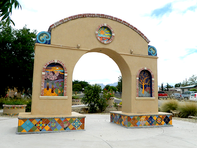 Corner of Manzanita St/Hadley Ave Ceramic Tile/Glaze Glenn Schwaiger 2011