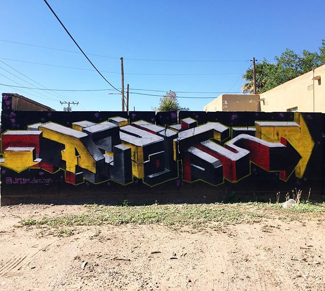 Check out this cool piece by @jrom.design #muralsoflascruces #muralhunter #lascruces #graffiti #newmexico #putamuralonit