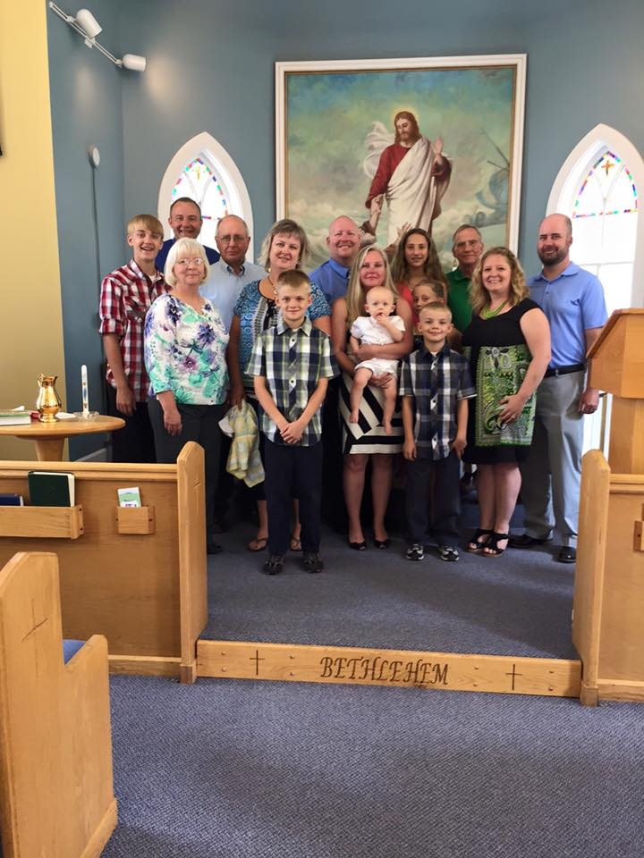 Baptism at Bethlehem Lutheran, Aitkin, MN