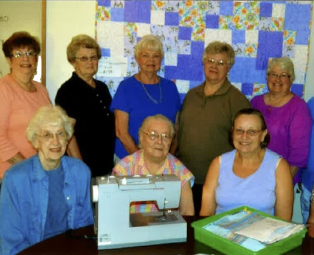 Quilters at Bethlehem Lutheran in Aitkin, MN