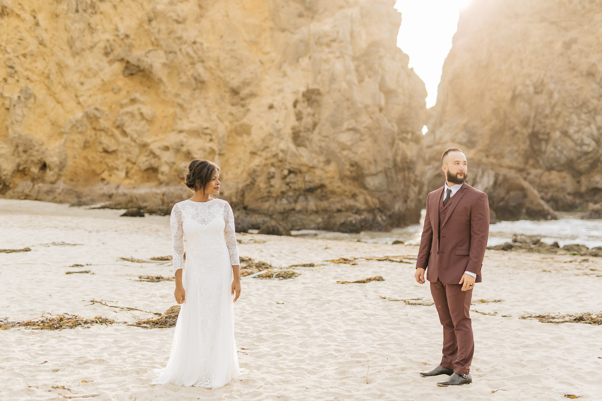 Intimate elopement along the west coast